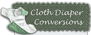 Cloth Diaper Conversions